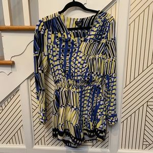 Bebe Yellow and Blue Romper